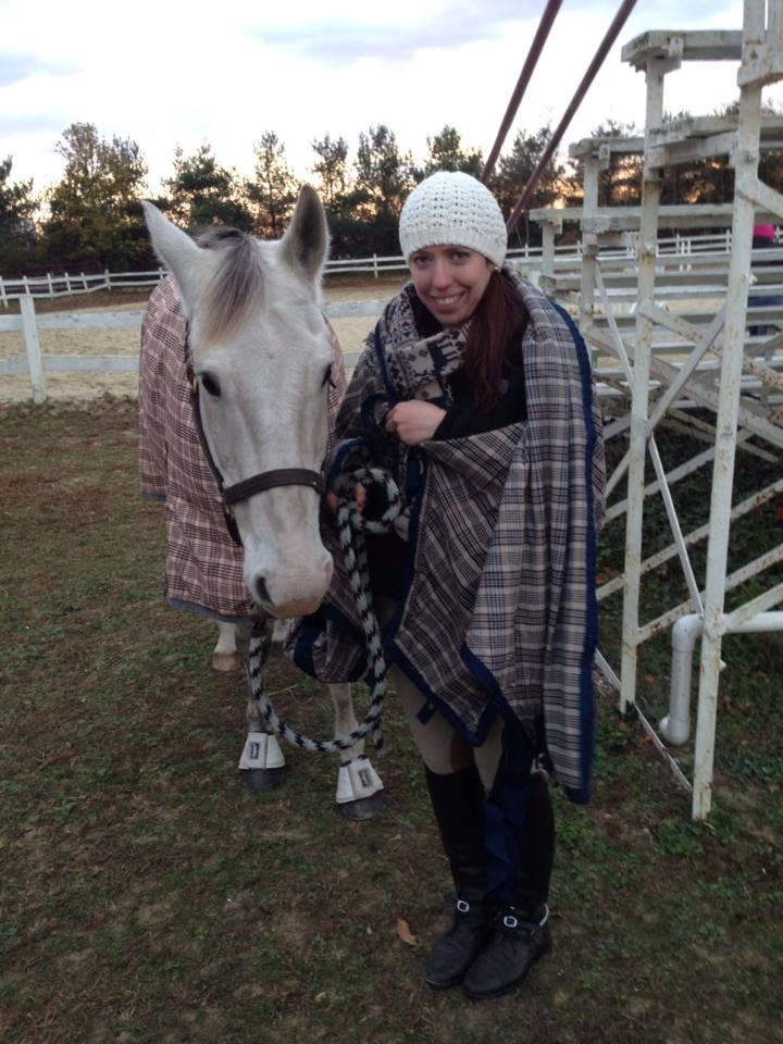 Equiflexsleeve fans Lynn and Max bundled up at a late fall show in 2014! Brr!